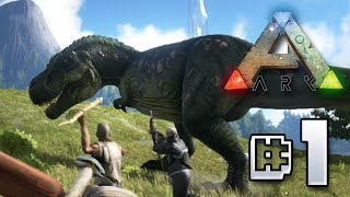Ark Survival Evolved || Humble Beginnings!!! Ep 1