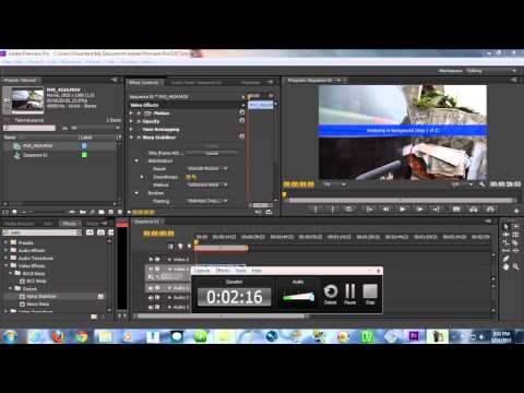 Premiere Pro TUTORIALS - Glidecam Effect without Using Glidecam (Warp Stabilizer)