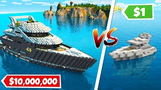 Minecraft NOOB vs PRO: $1 Vs $10.000.000 MODERN YACHT HOUSE - BUILD CHALLENGE