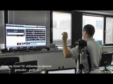 Samsung Smart TV, utilizarea cu ajutorul gesturilor