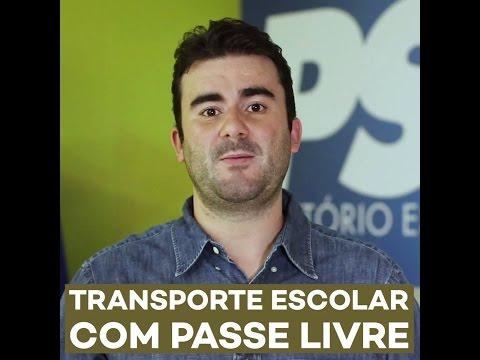 Caio Narcio transporte escolar com passe livre