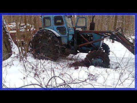 Погрузка леса МТЗ-82 - YouTube