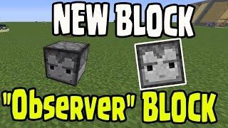 "Minecraft 1.10 Update - NEW BLOCK! ""Observer Block"" Piston Type Block - Pocket Edition (MCPE 0.15)"