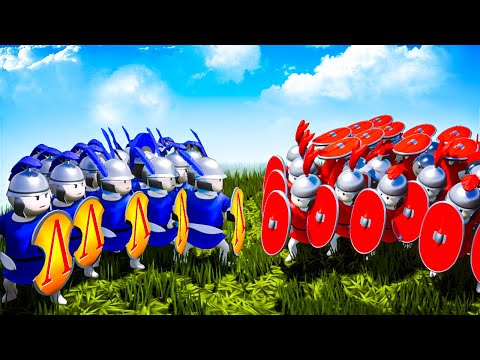 300 SPARTANS vs Roman TESTUDO Formation - Massive Battle to Win the War in Shieldwall!