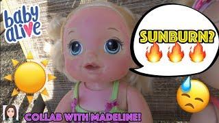 Video Baby Alive Gets Sunburned! Emma Fakes A Sunburn? Collab With BabyDollsAreMyThing! MP3, 3GP, MP4, WEBM, AVI, FLV Agustus 2018