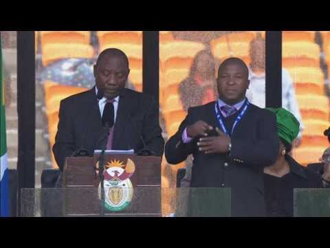 language - The sign language interpreter at Nelson Mandela's memorial service has been accused of being a fake, who merely flapped his arms around during speeches. Here...