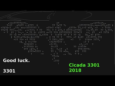 CICADA - 3301 2018 Game -Most Mysterious Internet Puzzle