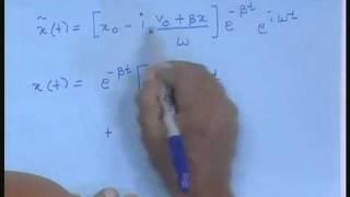 Lecture - 3 Damped Oscillator - II