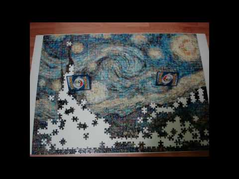 Starry Night Puzzle Stop Motion