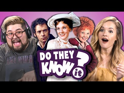 Video DO COLLEGE KIDS KNOW MOVIE MUSICALS? #2 (REACT: Do They Know It?) download in MP3, 3GP, MP4, WEBM, AVI, FLV January 2017