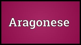 Video shows what Aragonese means. Of, from, or pertaining to Aragon, the Aragonese people or the Aragonese language.. Aragonese pronunciation. How to pronoun...