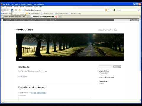 WordPress 3.1 Tutorial deutsch