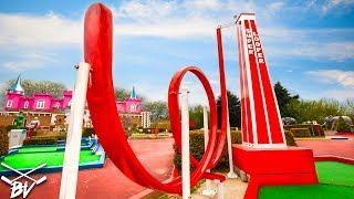 Video THE BEST MINI GOLF COURSE EVER! - TRIPLE HOLE IN ONE AND CRAZY HOLES! MP3, 3GP, MP4, WEBM, AVI, FLV September 2018