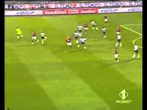ibrahimovic primo goal alla roma - roma juventus - 1 a 4