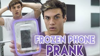 I pranked Grayson by freezing his phone. He's pretty oblivious so this prank was kinda easy to do lol.SUBSCRIBE - http://www.youtube.com/user/thedolant...Last Week's Video - https://www.youtube.com/watch?v=3ktSMotgEYkEthan's StuffINSTAGRAM - https://instagram.com/ethandolan/TWITTER - https://twitter.com/EthanDolanSNAPCHAT - EthanDolanGrayson's ThingsINSTAGRAM - https://instagram.com/graysondolan/TWITTER - https://twitter.com/GraysonDolanSNAPCHAT - GraysonDolan