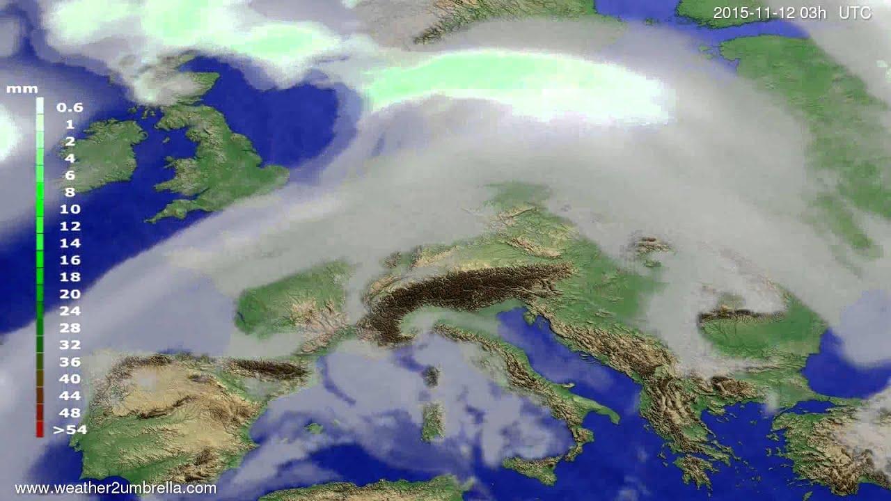 Precipitation forecast Europe 2015-11-09
