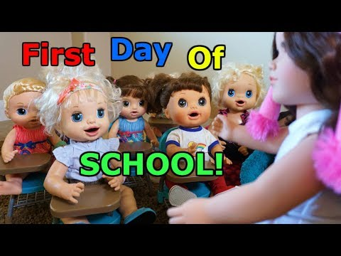 BABY ALIVE First Day Of School And NEW Sweet Tears Baby Unboxing!