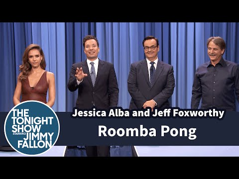 جيسيكا ألبا تلعب Beer Pong في برنامج The Tonight Show Starring Jimmy Fallon