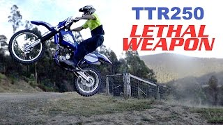 1. YAMAHA TTR250 REVIEW: JAPANESE LETHAL WEAPON! vlog #207