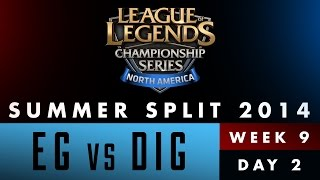 LCS NA Summer Split 2014 - Week 9 Day 2 - EG vs DIG