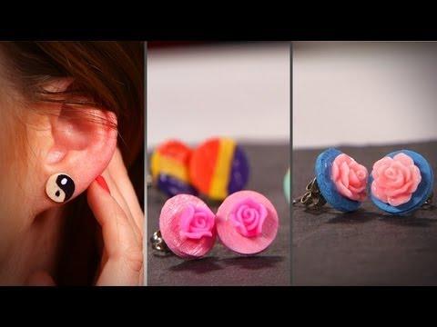 DIY Fashion | Custom Stud Earrings | Designer DIY