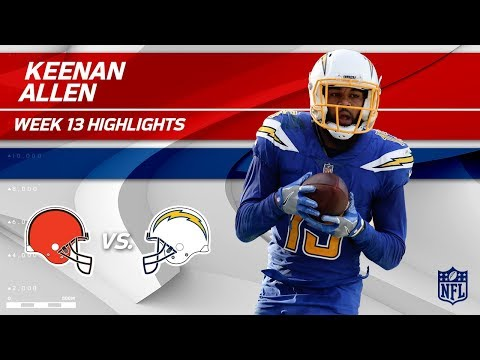Video: Keenan Allen's 10 Catches, 105 Yds & 1 TD vs. Cleveland! | Browns vs. Chargers | Wk 13 Player HLs