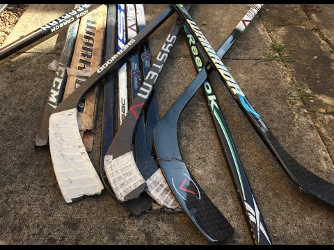 What to do with broken hockey sticks – Improve stickhandling