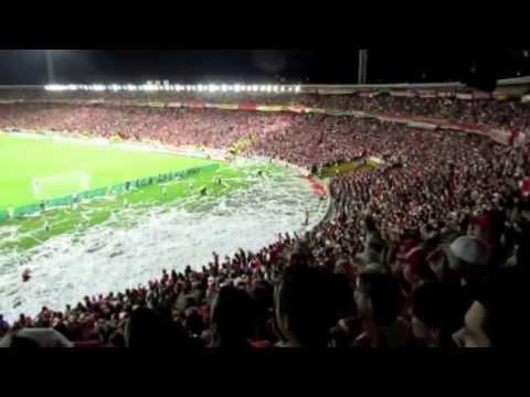 SANTA FE vs Gremio // LA FIESTA DE TODOS! - La Guardia Albi Roja Sur - Independiente Santa Fe