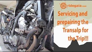 Preparing the Transalp - Service   Προετοιμάζοντας το Τρανσαλπ - Σέρβις