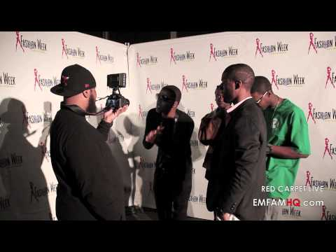 livefashionweek - EMFAM Entertainment & Flystars both hit the Red Carpet at Fashion Week New Orleans 2013 Launch Party doing interviews and networking with designers and model...