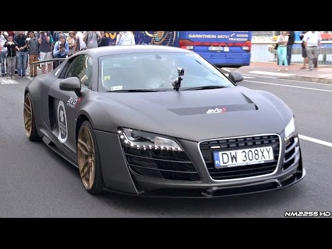 prior design audi r8 pd gt850 loud accelerations