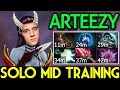 Arteezy Dota 2 [Queen of Pain] Time to Solo Mid Training