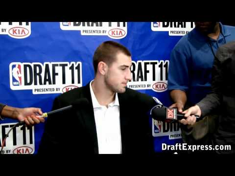 Jonas Valanciunas - 2011 NBA Draft - Media Day Interview