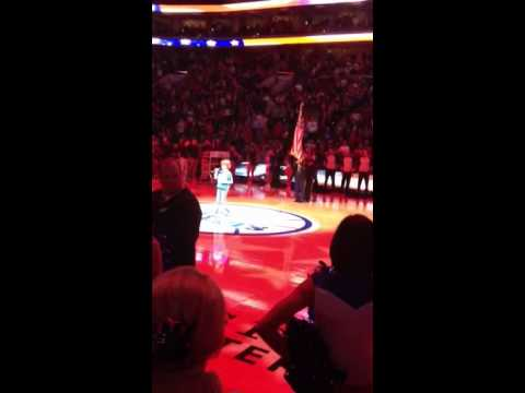 Dustin from 'Stranger Things' sings Star-Spangled Banner before NBA game