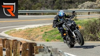 9. 2017 Yamaha FZ-09 First Test Review Video | Riders Domain