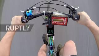 Ростовчанин собрал реактивный велосипед