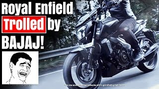 Dear Guys!,In this Video we see Royal Enfield being trolled by Bajaj Dominar 400.Hope this Video was Great! Follow me on...