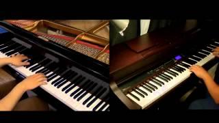 Download Lagu Jiyuu no Tsubasa - Shingeki no Kyojin OP2 [piano Duet with Tehishter] Mp3