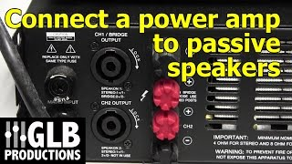 Video How to connect a power amplifier to passive loudspeakers MP3, 3GP, MP4, WEBM, AVI, FLV November 2018