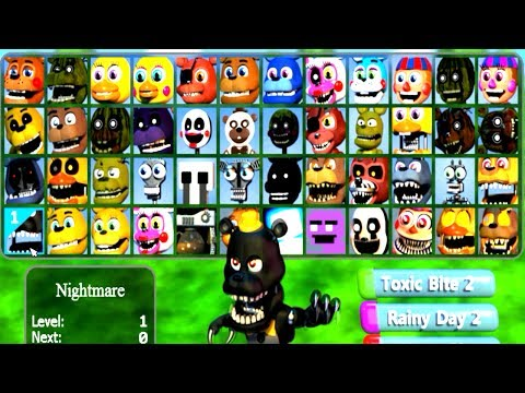 FNaF WORLD Multiplayer All 48 Characters Unlocked (All Animatronics)