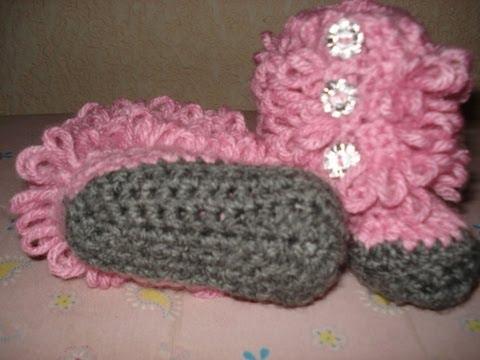botitas para bebe a crochet paso a paso (suela parte 1)