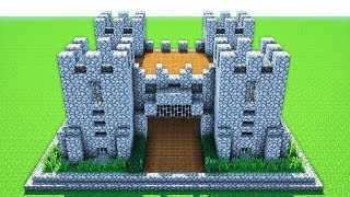 MINECRAFT: How to build a castle! (Tutorial) Survival Castle tutorial - Easy Build - PC, MCPE ect