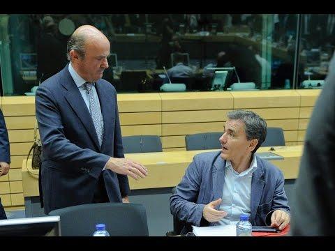 Πλάνα από την έναρξη της συνεδρίασης του Eurogroup