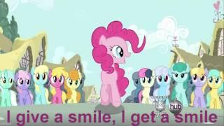 Pinkie Pie - Smile Smile Smile - sing along! (S2E18) On screen lyrics