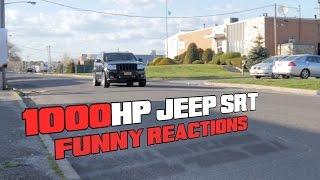 Ależ to ma przyspieszenie! 1000 konny Jeep SRT vs zszokowani pasażerowie!