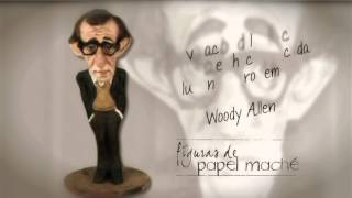 Woody Allen en papel maché
