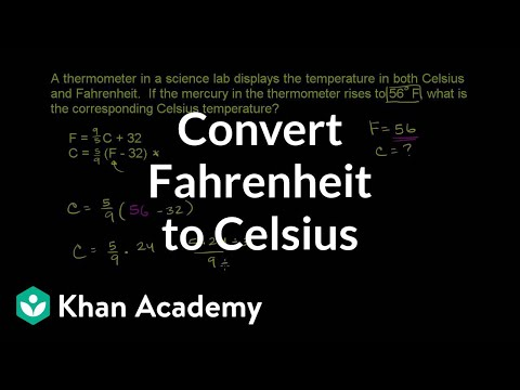 Converting Fahrenheit To Celsius Video Khan Academy