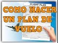 MANUAL: Como hacer un plan de Vuelo - YouTube
