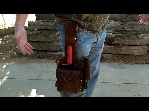 Metal Detecting Leather Thigh Rig for the Lesche and Garrett propointer