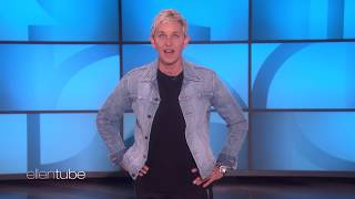 Video Ellen Looks for the Mystery Celebrity Hiding in Her Audience MP3, 3GP, MP4, WEBM, AVI, FLV Februari 2019